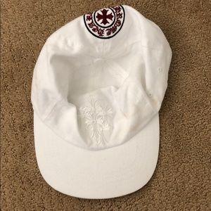 White chrome hearts hat